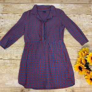 Girls plaid Dress by Gap is like new. Size 8